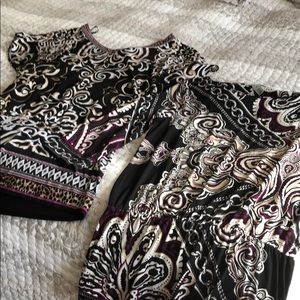 Two WHBM printed tunics